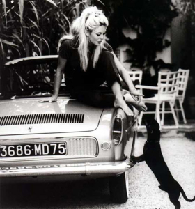 Brigitte Bardot poses with a Floride in this picture from the 60's